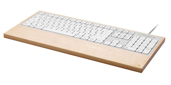 Sustainable computer keyboard in maple wood