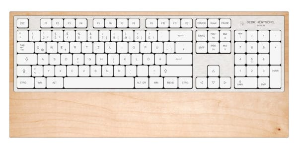 Luxury and unique computer keyboard in maple wood